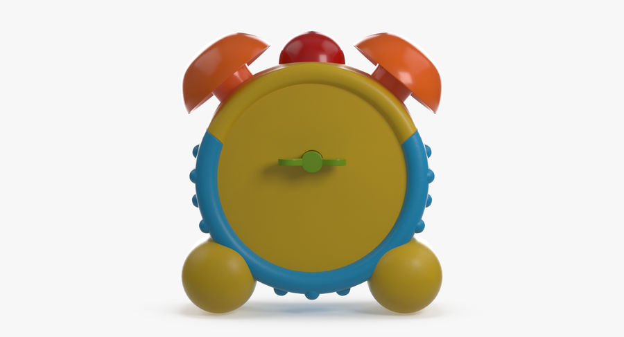おもちゃの目覚まし時計 royalty-free 3d model - Preview no. 6