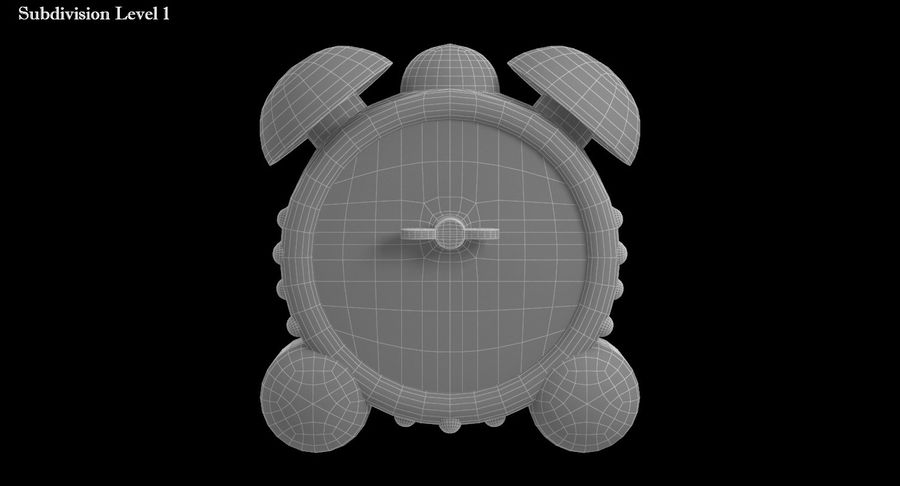 おもちゃの目覚まし時計 royalty-free 3d model - Preview no. 13