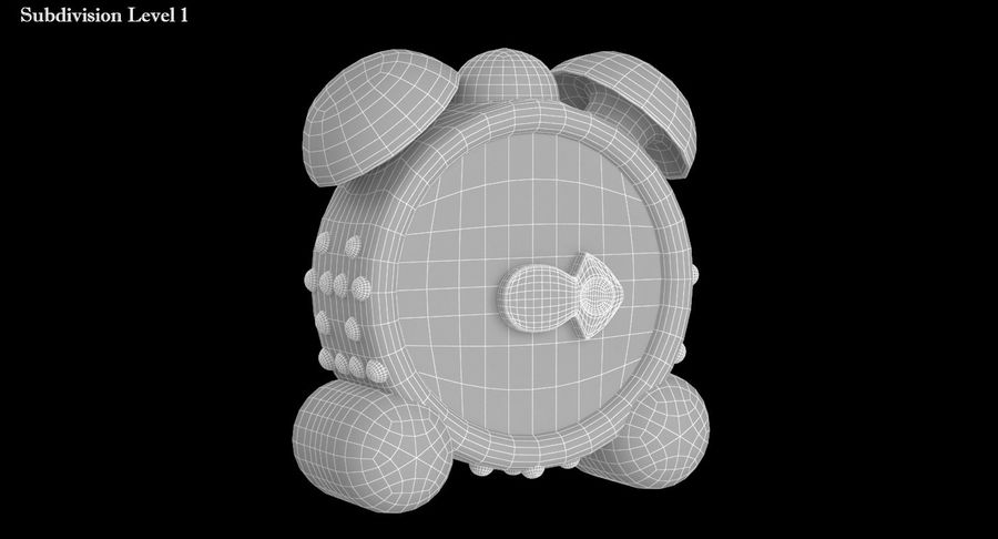 おもちゃの目覚まし時計 royalty-free 3d model - Preview no. 11
