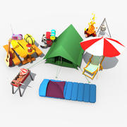Low Poly Camping Pac 3d model