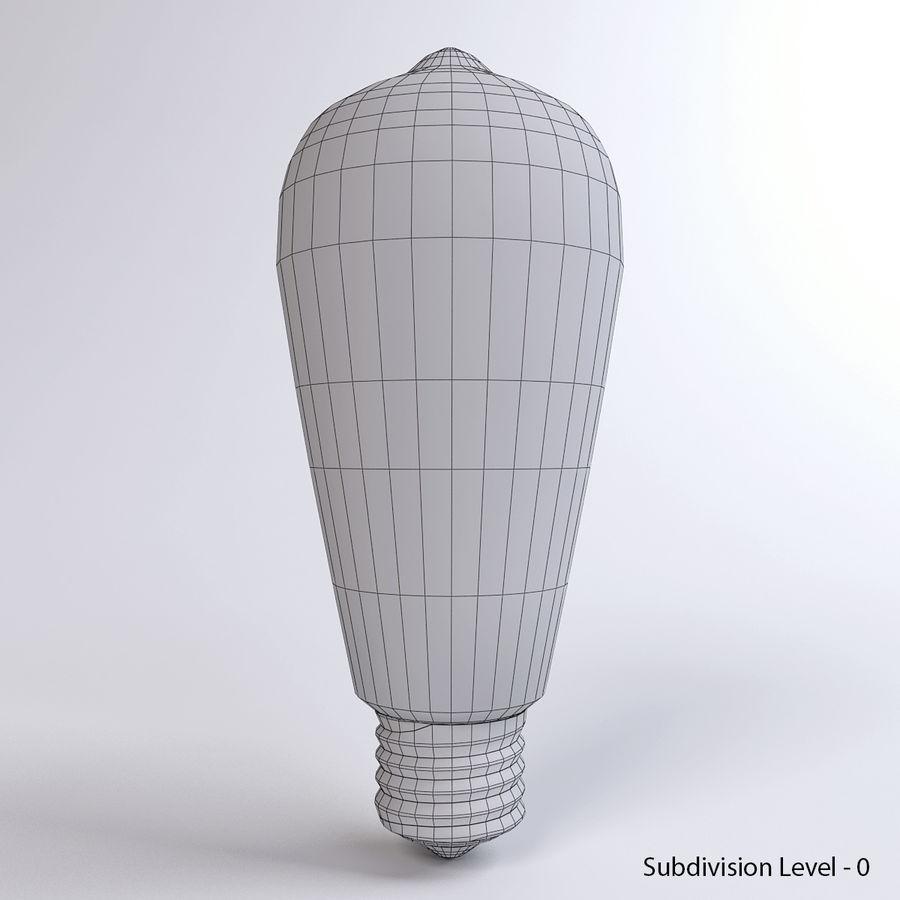 Bombilla Edison royalty-free modelo 3d - Preview no. 9