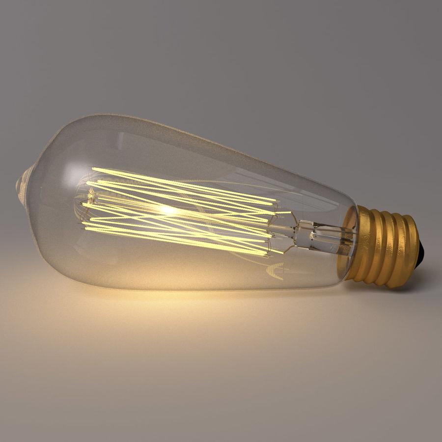 Bombilla Edison royalty-free modelo 3d - Preview no. 6