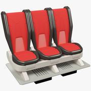 Dibujos animados Space Ship Seat V1 modelo 3d