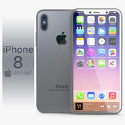 Iphone 8 Concept Silver 3d model