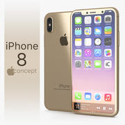 Iphone 8 Concept Gold 3d model