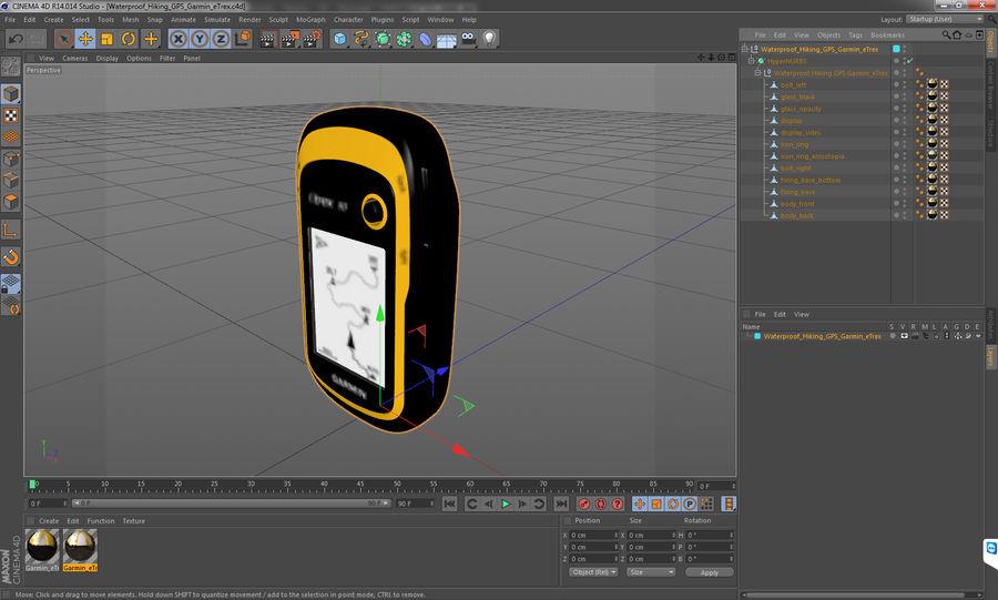 Waterproof Hiking GPS Garmin eTrex royalty-free 3d model - Preview no. 18