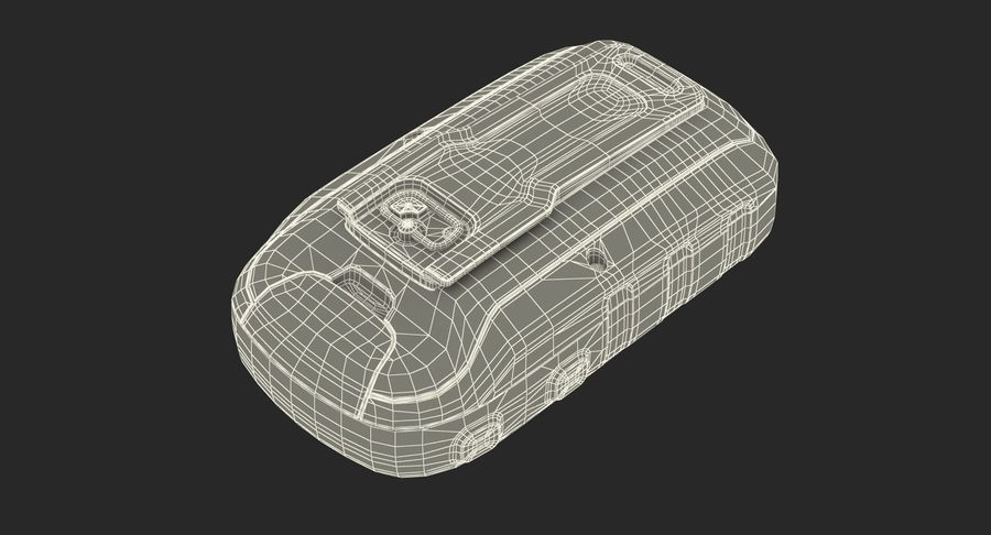 Waterproof Hiking GPS Garmin eTrex royalty-free 3d model - Preview no. 20