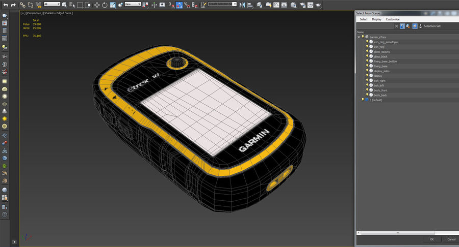 Waterproof Hiking GPS Garmin eTrex royalty-free 3d model - Preview no. 16