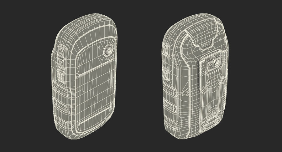 Waterproof Hiking GPS Garmin eTrex royalty-free 3d model - Preview no. 19