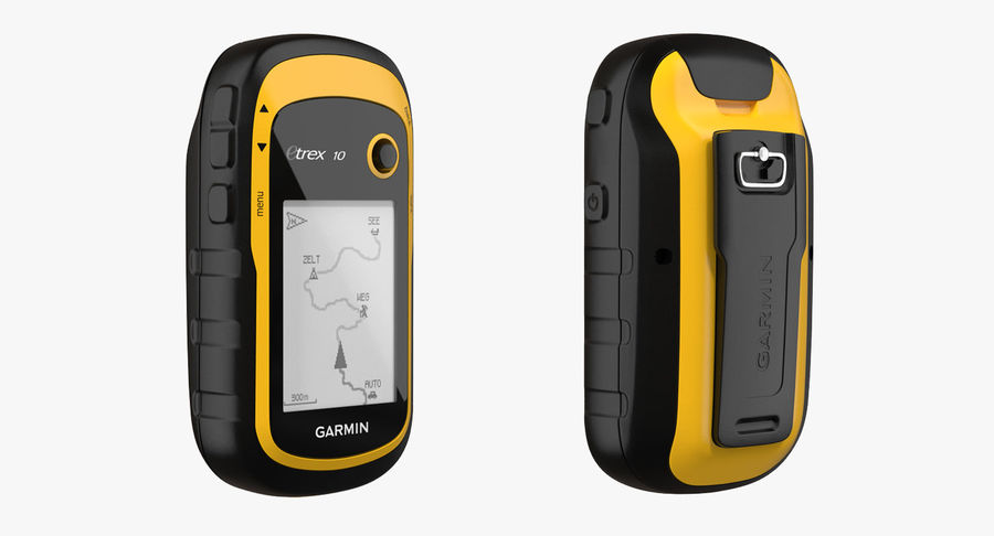 Waterproof Hiking GPS Garmin eTrex royalty-free 3d model - Preview no. 4