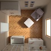 Pokój dziecięcy 3d model