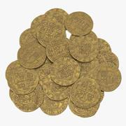 Gold Coins Pile 3d model