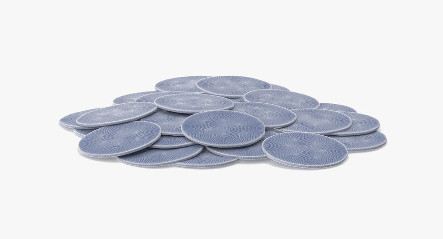 Gold Coins Pile royalty-free 3d model - Preview no. 13