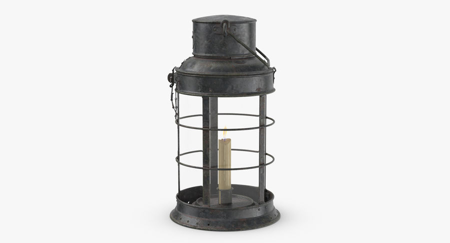 Ship Candle Lantern royalty-free 3d model - Preview no. 4