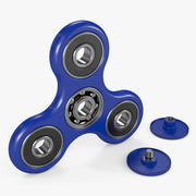 Niebieski Fidget Spinner 3d model