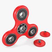 Red Fidget Spinner 3d model