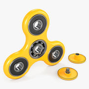 Żółty Fidget Spinner 3d model