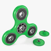 Zielony Fidget Spinner 3d model