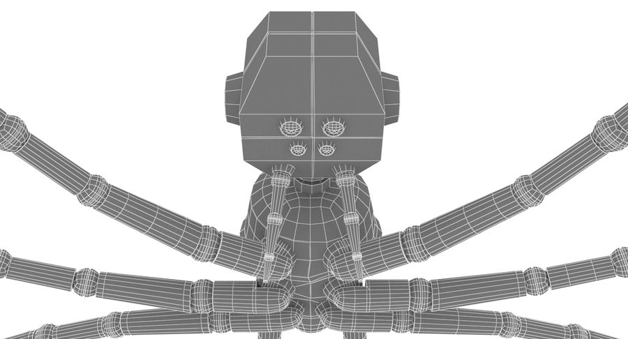 Spider Robot royalty-free 3d model - Preview no. 11
