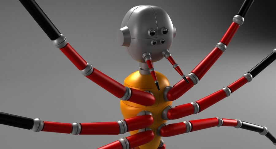 Spider Robot royalty-free 3d model - Preview no. 6