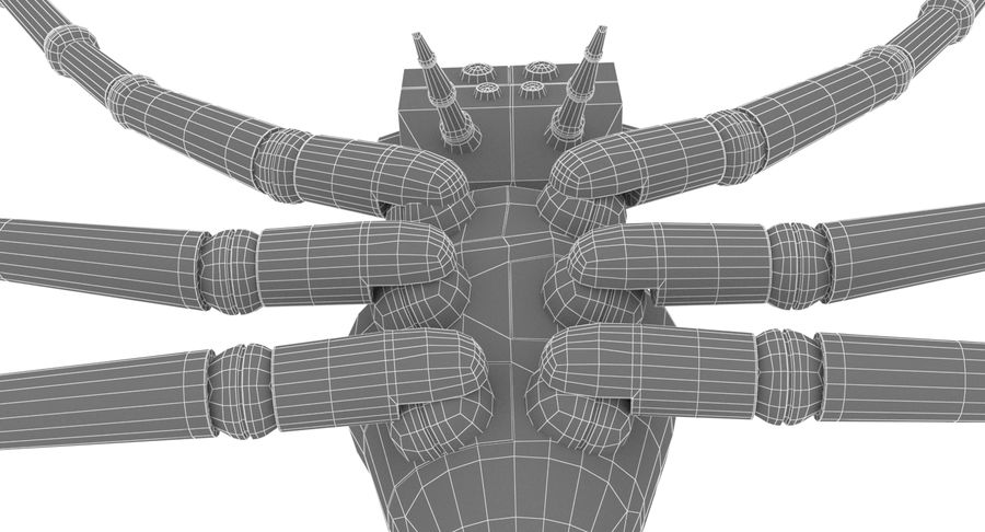 Spider Robot royalty-free 3d model - Preview no. 12