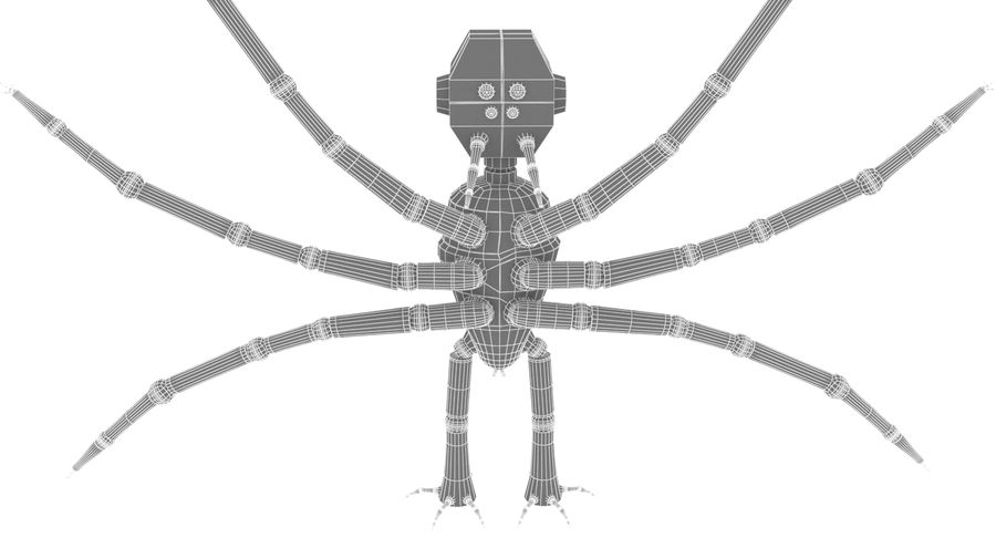 Spider Robot royalty-free 3d model - Preview no. 10