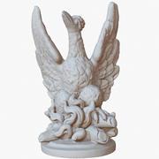 Rzeźba Cmentarz Ptak Raw Skan 3d model