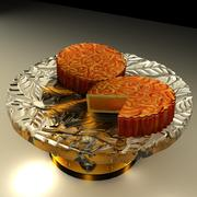 Chinese moon cake 3d model