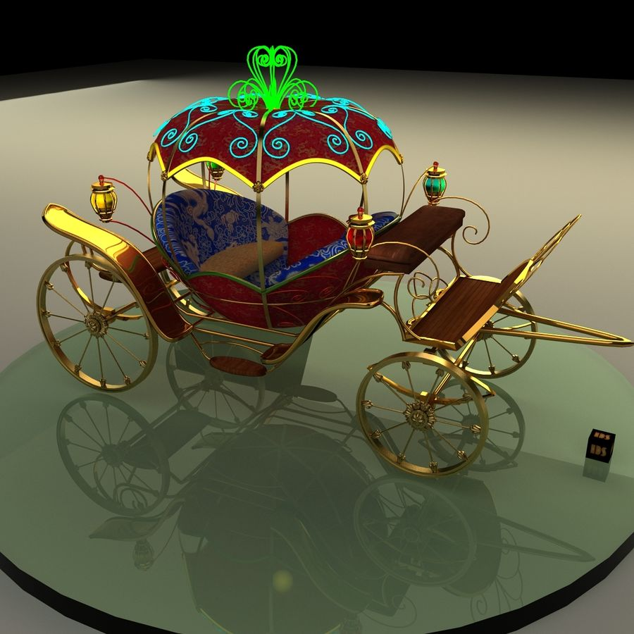 Carriage royalty-free 3d model - Preview no. 1