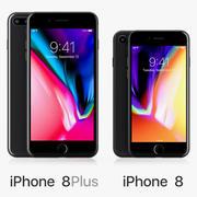 Apple iPhone 8 och iPhone 8 Plus 3d model