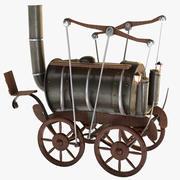 Antigua locomotora a vapor modelo 3d