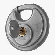 Disc Padlock 01 Key 3d model