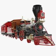 Brinquedo do trem do parque de diversões 3d model