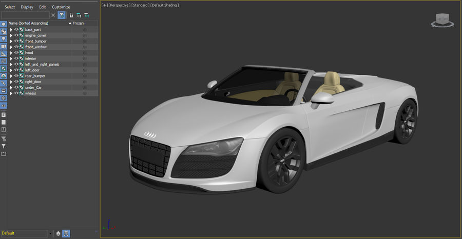 Audi R8 Spyder royalty-free 3d model - Preview no. 24