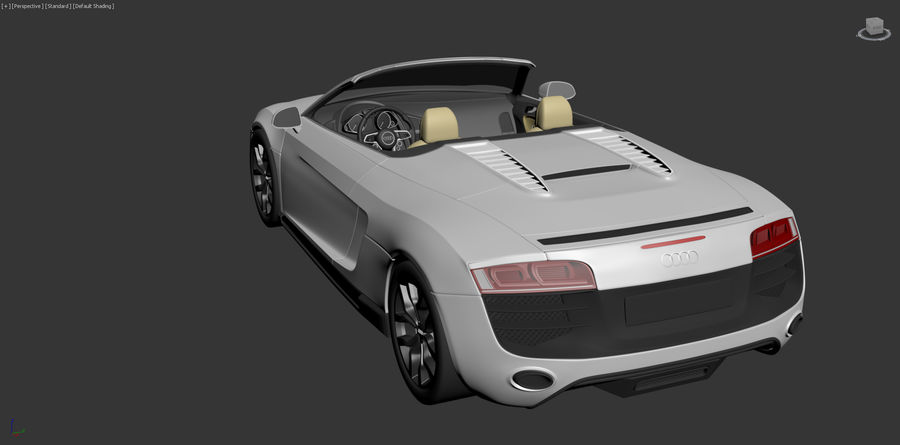 Audi R8 Spyder royalty-free 3d model - Preview no. 23