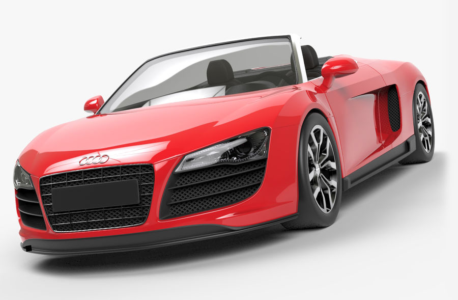 Audi R8 Spyder royalty-free 3d model - Preview no. 1