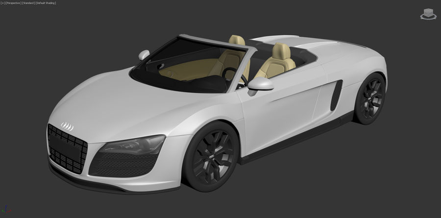 Audi R8 Spyder royalty-free 3d model - Preview no. 21
