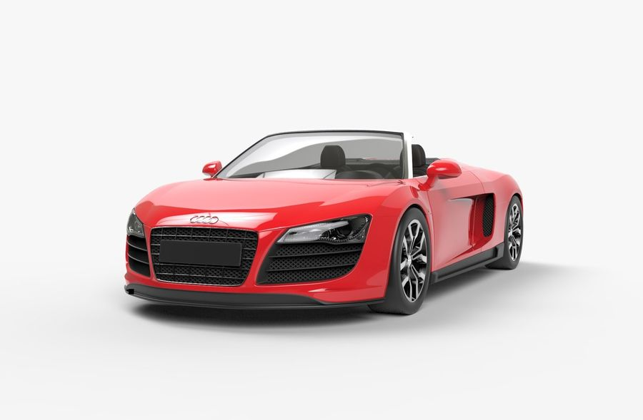 Audi R8 Spyder royalty-free 3d model - Preview no. 5