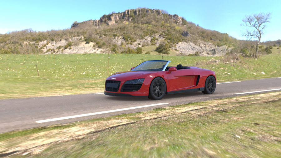 Audi R8 Spyder royalty-free 3d model - Preview no. 13