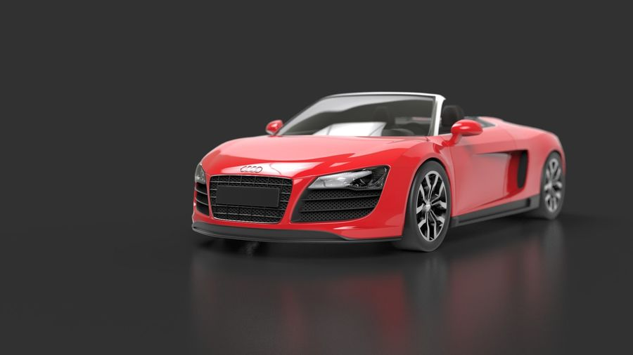 Audi R8 Spyder royalty-free 3d model - Preview no. 2