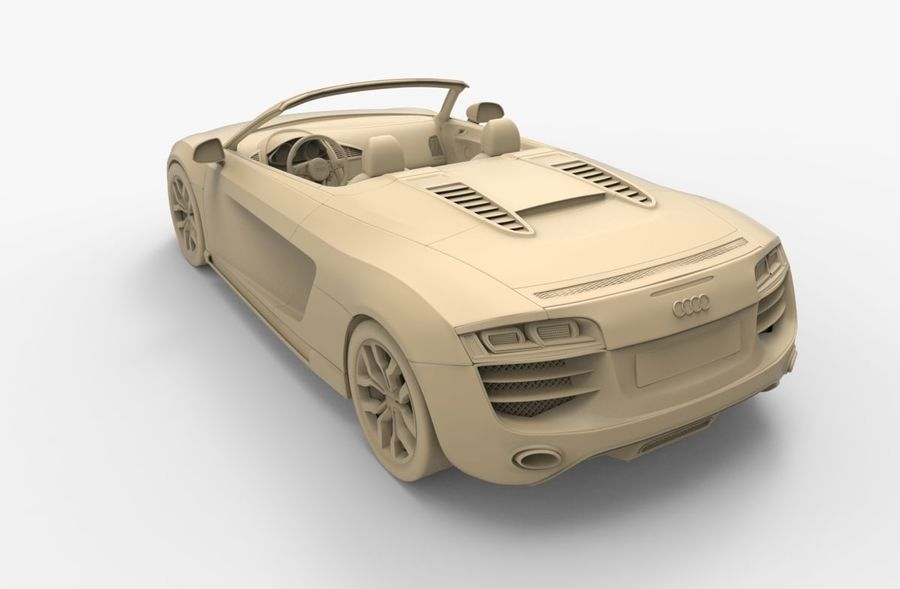 Audi R8 Spyder royalty-free 3d model - Preview no. 19