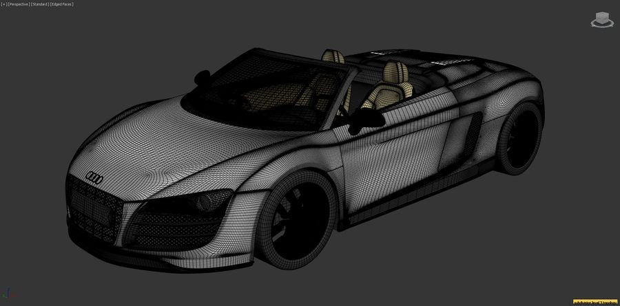 Audi R8 Spyder royalty-free 3d model - Preview no. 20