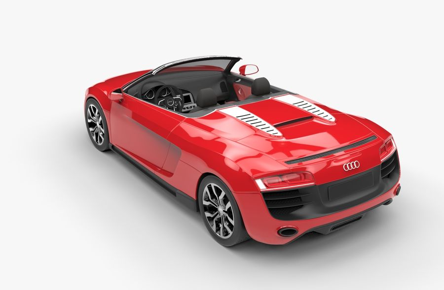 Audi R8 Spyder royalty-free 3d model - Preview no. 7
