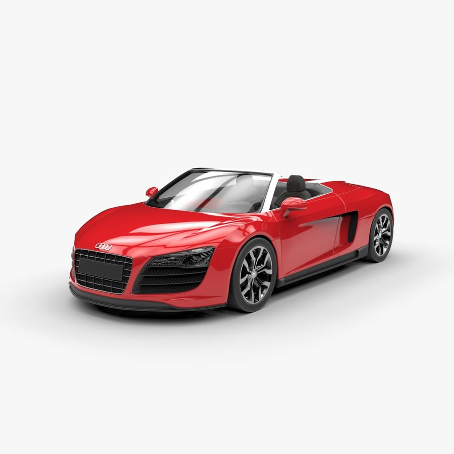 Audi R8 Spyder royalty-free 3d model - Preview no. 3