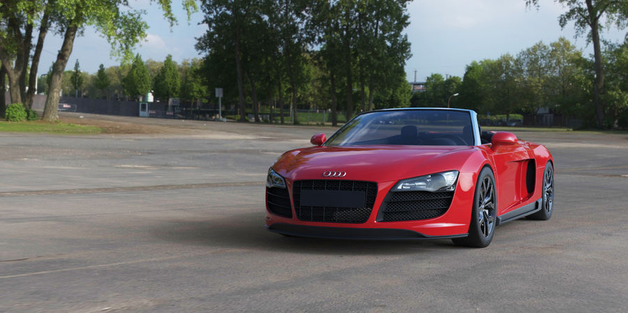 Audi R8 Spyder royalty-free 3d model - Preview no. 14