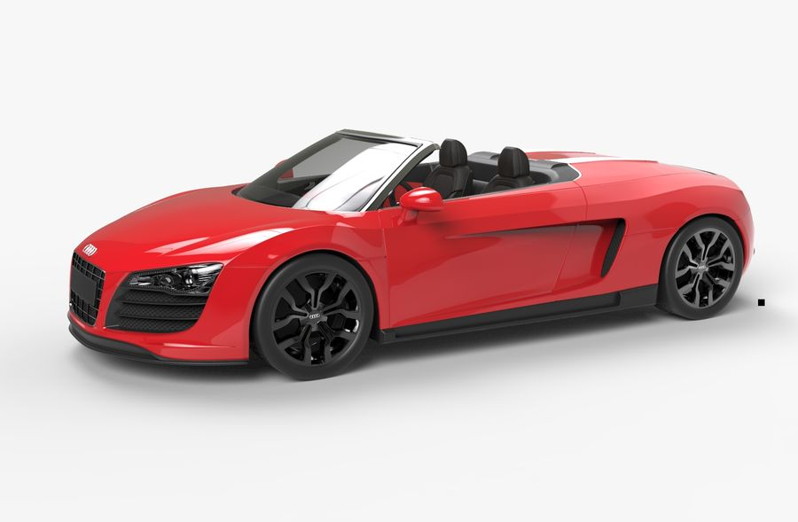 Audi R8 Spyder royalty-free 3d model - Preview no. 6