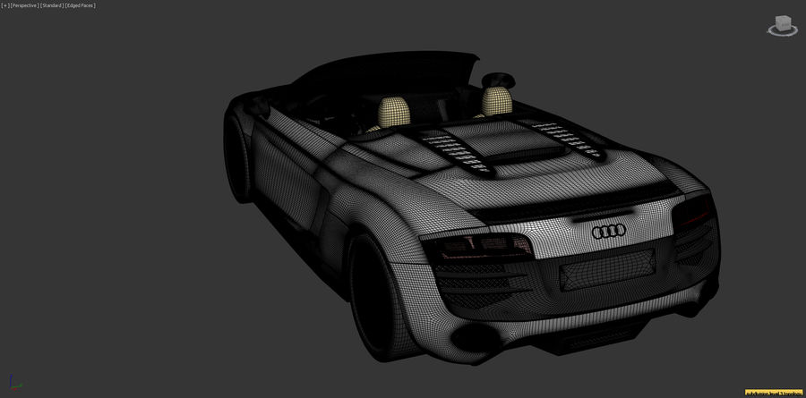 Audi R8 Spyder royalty-free 3d model - Preview no. 22