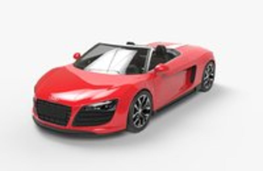 Audi R8 Spyder royalty-free 3d model - Preview no. 4