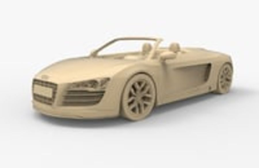 Audi R8 Spyder royalty-free 3d model - Preview no. 18