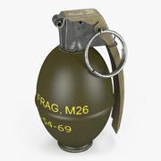 Grenade à main M26 (Grenade au citron) 3d model